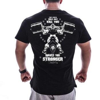 Мужская футболка большого размера, европейская повседневная одежда для бодибилдинга с коротким рукавом, 2019