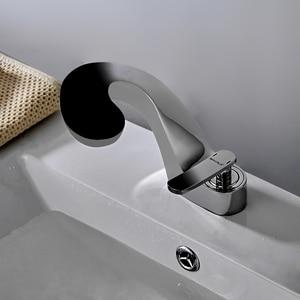 Image 2 - BAKALA mélangeur de robinet de salle de bains, lavabo moderne, cascade robinet deau chaude et froide pour lavabo de la salle de bains F8151 1
