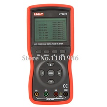 UNI-T UT267B Digital Auto 3 Three Clamp Phase Meter VA Voltammeter Ammeter Power w/Phase Sequence Tester Instruments