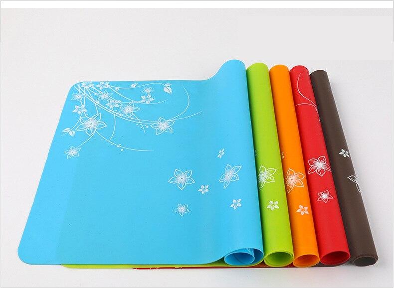 40x30 mantel de silicona de impresión para mesa de niños posavasos de aislamiento almohadilla de ordenador portátil de alta temperatura y fácil para limpiar