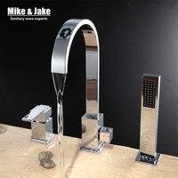 Chrome special 3pcs kit Bathroom faucet sink mixer crane bathroom faucet basin crane white tap sink tap classic mixer