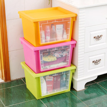 colorful clothing can be with a lid finishing boxes large double open transparent plastic storage box k2045