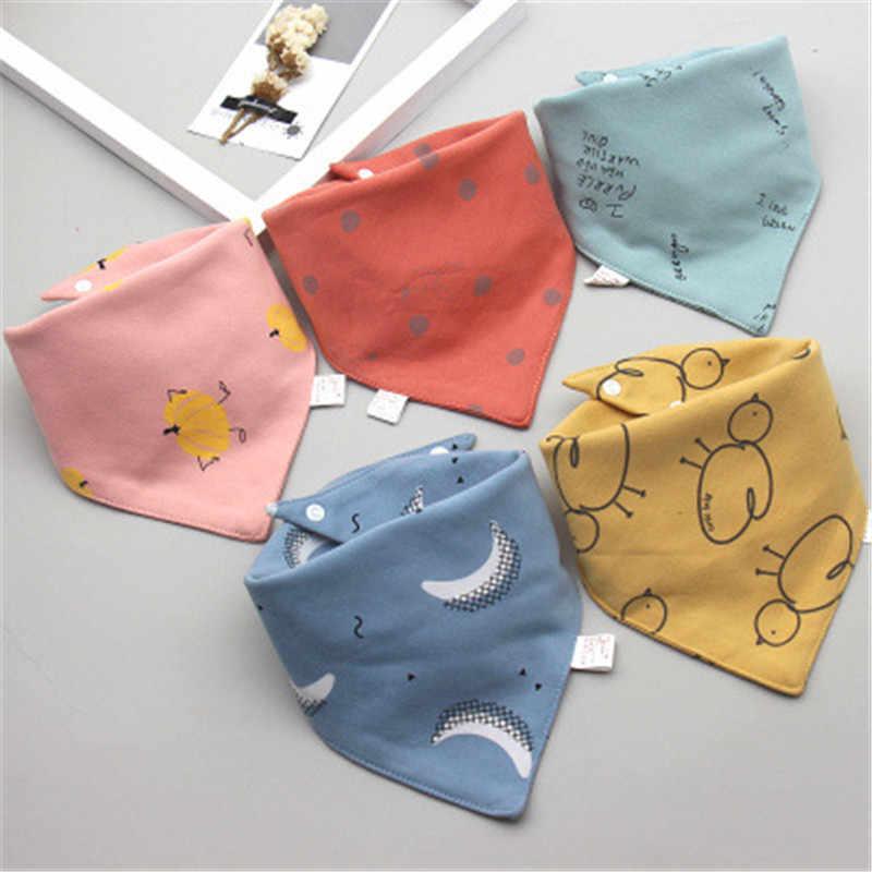 Bayi Oto Segitiga Double Cotton Oto 5 Potongan/Lot Kartun Cetak Handuk Air Liur Bayi Anak Laki-laki Anak Perempuan Makan Apron Kapas Oto Bandana