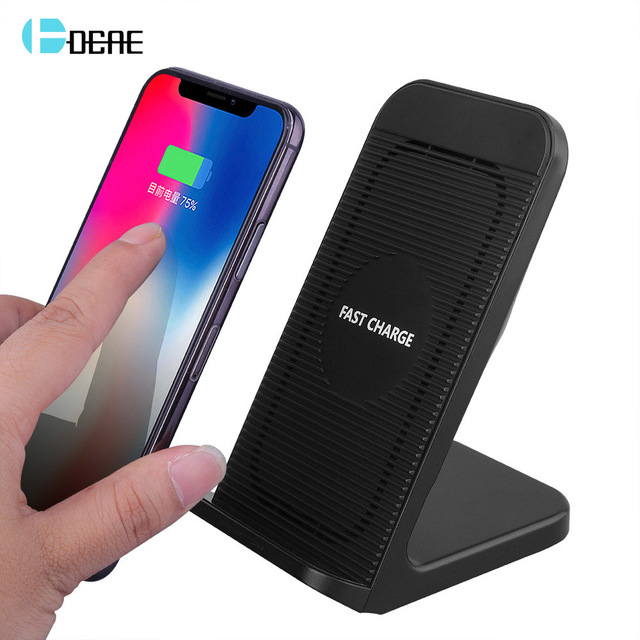 new products 71914 3d701 US $6.71 43% OFF|DCAE 10W Qi Wireless Charger For iPhone XS MAX XR X 8 Fast  Wireless Charging Dock Station For Samsung S9 S8 Plus Xiaomi Huawei-in ...