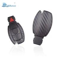 Airspeed 1 parça karbon fiber görünümlü ABS Mercedes Benz için anahtar durumda B200 C180 E260L S320L GLK300 E200L CAR-STYLING