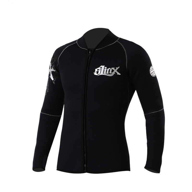 SLINX 5MM Neoprene Men Women Diving Jackets Fleece Lining Winter Wetsuit Swimwear for Snorkeling Boating Surfing Spearfishing slinx 1106 5mm neoprene men scuba diving suit fleece lining warm wetsuit snorkeling kite surfing spearfishing swimwear page 1