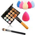 15 Color Concealer P15 Cosmetic Professional Concealer Palette Facial Face Cream Care Camouflage Makeup Base Palettes Brush Puff