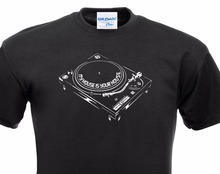 """Classic turntable """"My house is your house"""" men's t-shirt"""