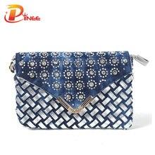 Femmes sac de mode 2016 de luxe denim portefeuilles dames vintage de soirée sacs à main femmes petite épaule messenger sacs