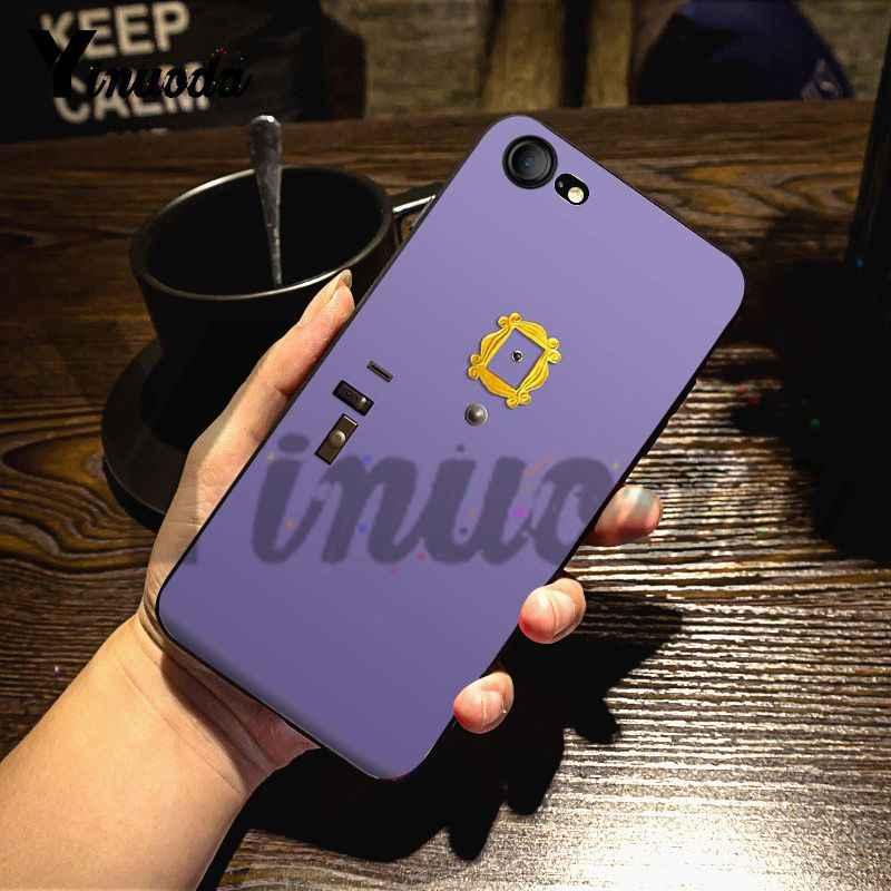 Yinuoda ل iphone 7 6 X حالة مونيكا في ثقب الباب إطار الأصدقاء تلفزيوني جراب هاتف ل iphone 7X6 6S 8 زائد X 5 5S XS XR