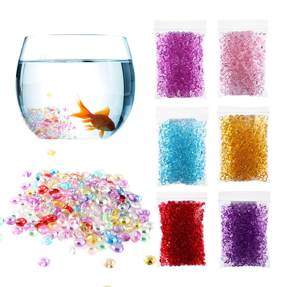 500pcs/Bag Clear Fishbowl Beads DIY Slime Decoration 7mm Diameter For Craft Tools Home Wedding Decoration