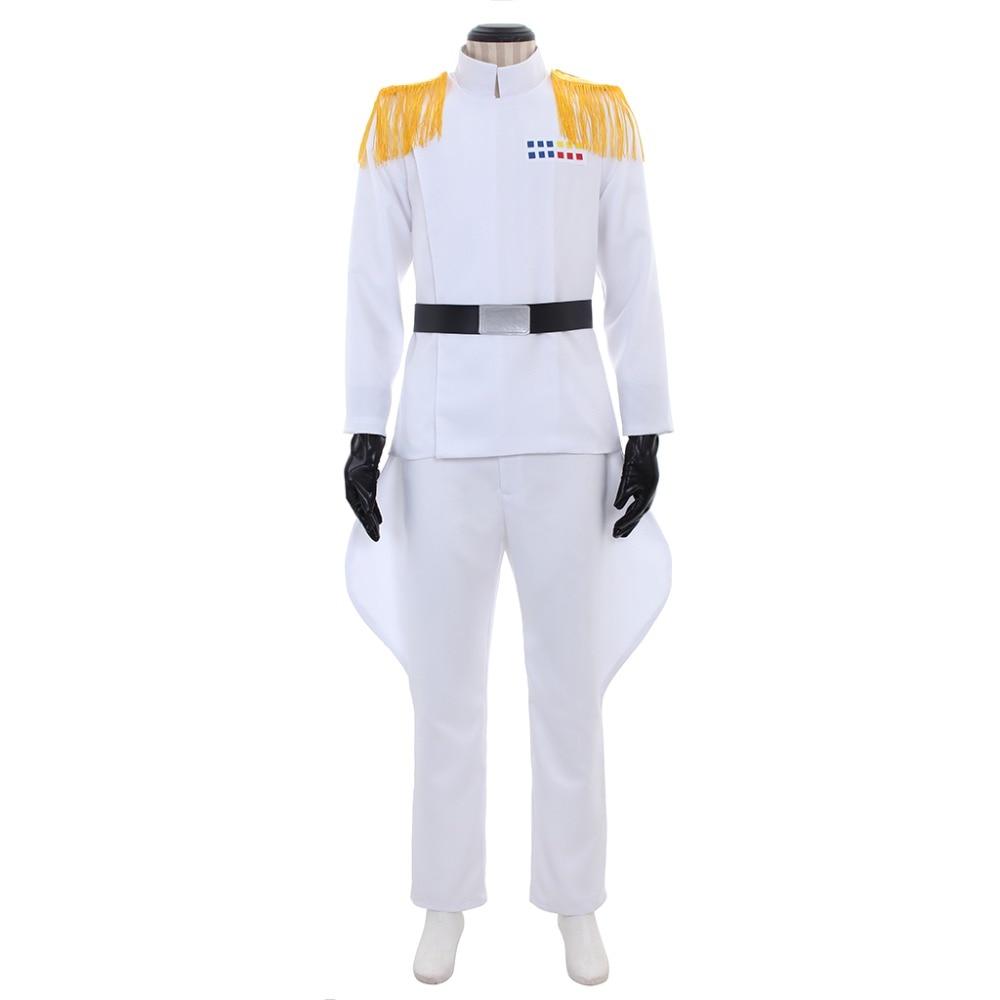 где купить Cosplaydiy The World War Imperial Officer Cosplay Costume Navy White Suit Grand Admiral Cosplay Suit L320 по лучшей цене