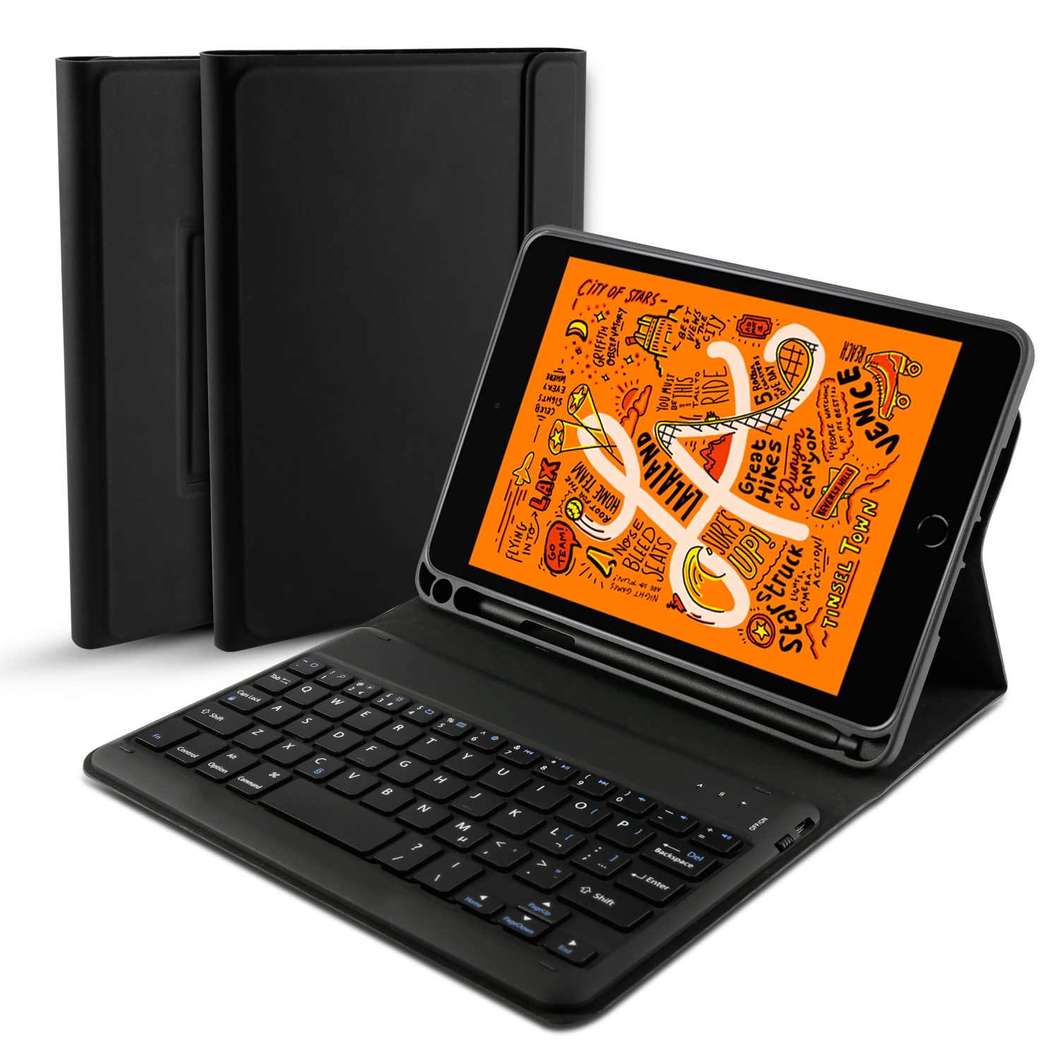 For iPad Mini 5 2019 Keyboard Case English French Spanish Bluetooth Flip Stand Leather 4 7.9