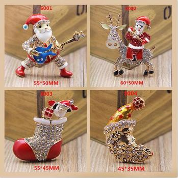 Christmas gift, Santa Claus alloy buttons 4style metal rhinestone button scrapbooking clothing diy Shoes Jewelry accessory