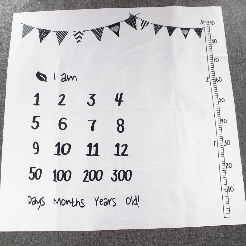 HTB1homYXF67gK0jSZPfq6yhhFXaa Cartoon Infant Portray Blanket Milestone Photo Props Background Blankets Baby Play Mats Backdrop Calendar Photo Accessories