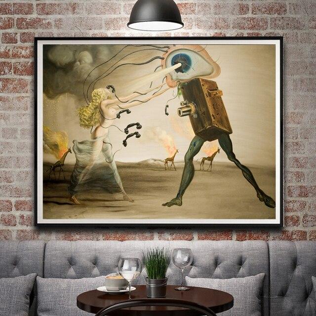 Us 515 14 Offklasyczne Malarstwo Abstrakcyjne Salvador Dali Surrealistyczne Dzieła Sztuki W Stylu Vintage Art Silk Plakat Do Dekoracji Domu 12x16