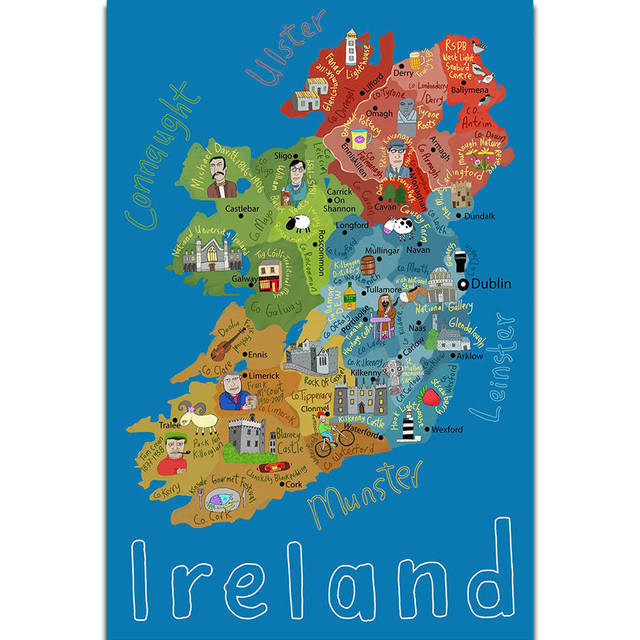 s1834 kids education world map of europe geography school wall art painting print on silk canvas