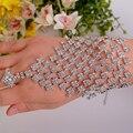 Wholesale NEW STYLE Luxuious rhinestone bridal bracelet +ring Gorgeous crystal Laides Bracelet wedding  jewelry accessories