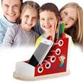 22*13*10 CM Grandes brinquedos educativos Para Crianças de amarrar os Sapatos de exercício/Usar O Botão Blocos Montessori contas de Presente de Aniversário da Criança Z010