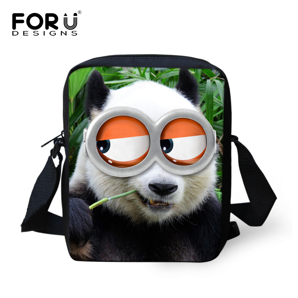 FORUDESIGNS Fashion Children School Bags Cute Animal Panda Owl Print Small Book Bags For Baby Boys Girls Casual Kids Travel Bag