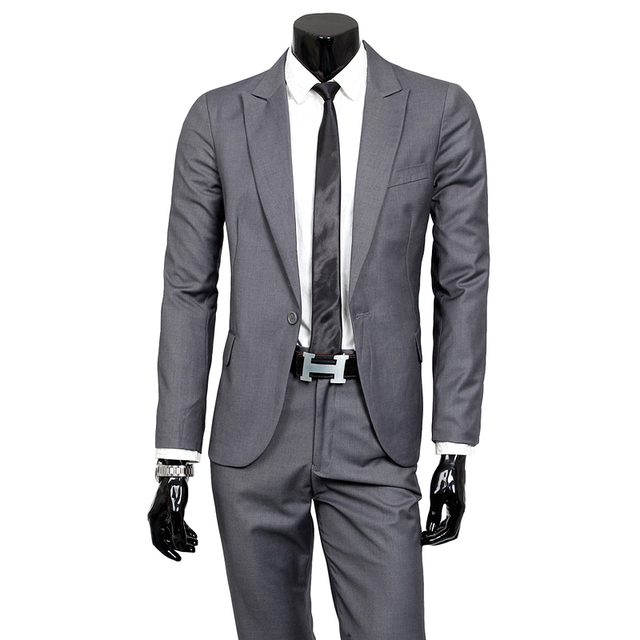 2016 fashion male quality slim fit cotton suit suits/Male high quality wedding the groom dress/Men casual jacket coat/Blazers