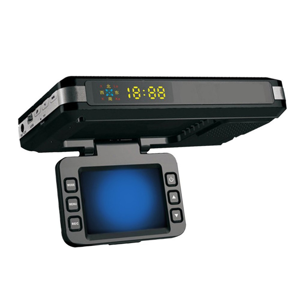 Newest 2 in 1 Car DVR Radar Dash Cam Laser Video Speed Detector Night Vision Radar Detection GPS Car Camera Record LED Display okeytech best 2 in 1 camera 720p russian english language laser radar signal detection night vision dash cam dvrs car detector