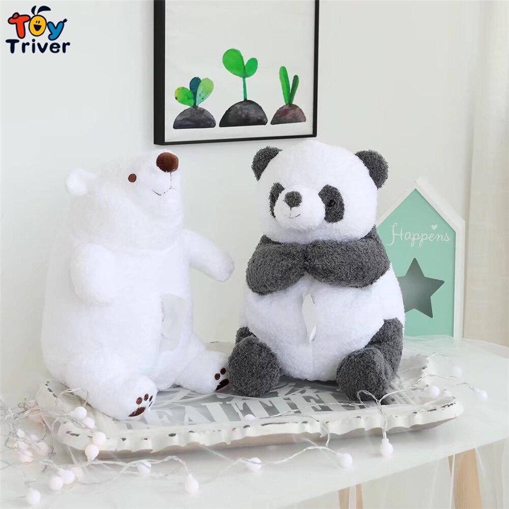 Oso Polar y Panda blanco Kawaii, peluche de Triver, caja de pañuelos para muñecos, caja, servilleta, soporte de papel, regalo de manualidades decorativas para el hogar Lote de 8 unidades de figuras de acción de Panda, Panda, Mini modelo de PVC para niños, juguetes de animales para niños, regalos de cumpleaños