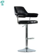 94532 Barneo N-152 эко-кожа кухонный черный стул высокий стул барный стул с мягким сиденьем на газ-лифте мебель для кухни стул для барной стойки стул для мастера стул в Казахстан по России