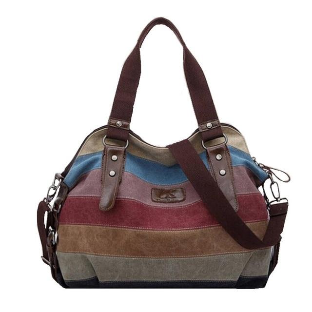 K-988 high quality Fashion Messenger Bags Canvas Super patchwork handbag 2016 Shopping Totes Handbags Casual Shoulder Bag W52