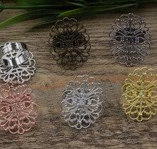 50pcs 26*34mm Flower Pad ring blank Cameo Tray,Bronze/Gold/Silver Ring setting,Handmade DIY Zakka jewelry Finding