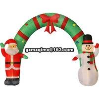 9ftH beliebte luftdurchblasen santa und schneemann aufblasbare weihnachtsbogen für urlaub dekoration