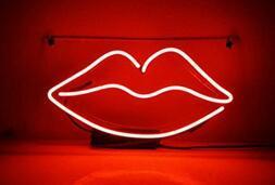 Kiss Glass Neon Light Sign Beer Bar