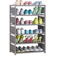 6 Layers Minimalist Modern Shoe Rack Easy to Assemble Hallway Space Saving Storage Shoes Organizer Cabinet Shelf Furniture