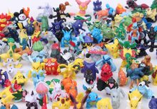 Hotsale Anime Kawaii Pikachu Action Figures Toys 2-3cm Mini Model Pocket Pets Dolls Kid's Christmas gift 144Pcs/lot 72Pcs/lot(China)