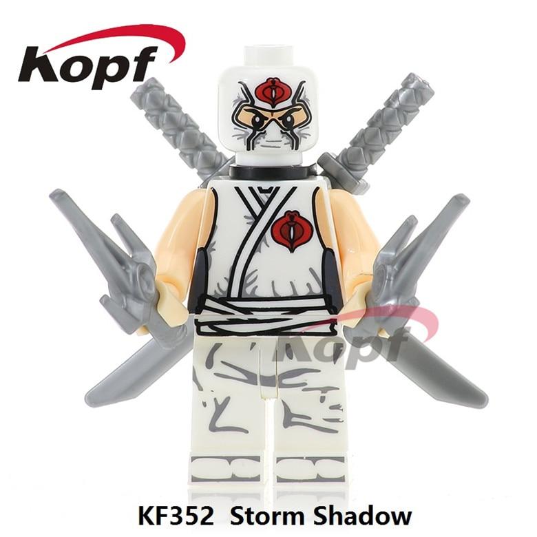 50Pcs KF352 Super Heroes Gi Joe Series Storm Shadow Serpentor Snake Eyes Snow Job Building Blocks