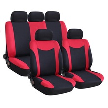 Universal Car Seat Cover Set 9Pcs Covers Front Back Headrest Polyester