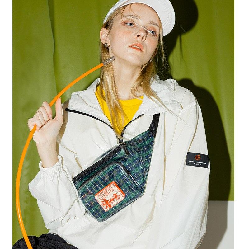 Women Chest Bag Street Style Shoulder Bag Fashion Pvc Casual Waist Pack Leg Bag Lattice Fanny Pack Girl Messenger Packs B196