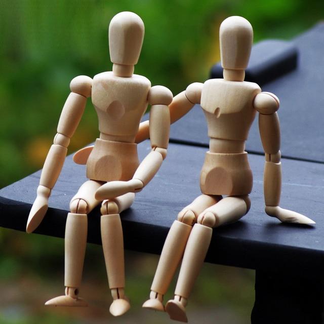 Aliexpress Com Buy 2pcs Lot Lovers Wooden Puppets Doll