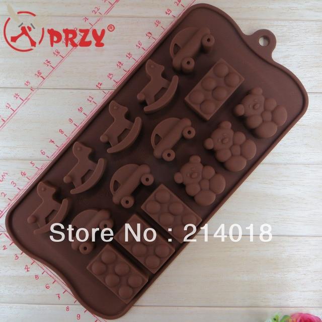 chocolate mold silicon Cake decoration mold Trojan car bear eggs pattern (CH007)
