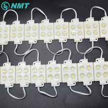 20 sztuk/partia modułu LED SMD 5050 4 LED DC12V wodoodporne moduły ledowe do projektowania reklam Super jasne ciepłe białe oświetlenie list