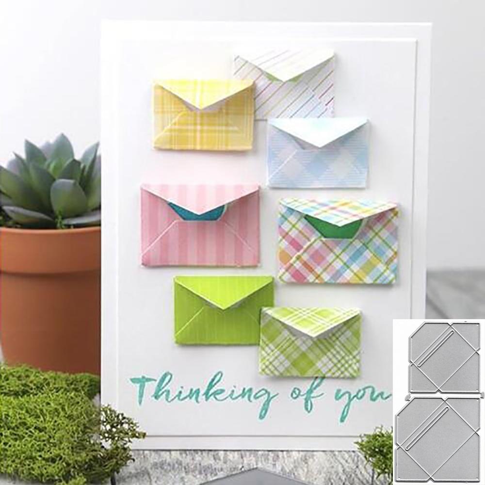 Envelope Metal Cutting Dies Stencil Template For DIY Scrapbooking Embossing Paper Cards Album Making Decorative Craft Dies Cut