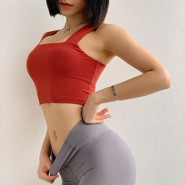 Phụ nữ Cao Tác Động Thể Thao Áo Ngực dây đeo vai Rộng Cao Hỗ Trợ Tập Thể Dục Yoga Áo Ngực Phòng Tập Thể Dục Đào Tạo Sexy Activewear Vest Tops