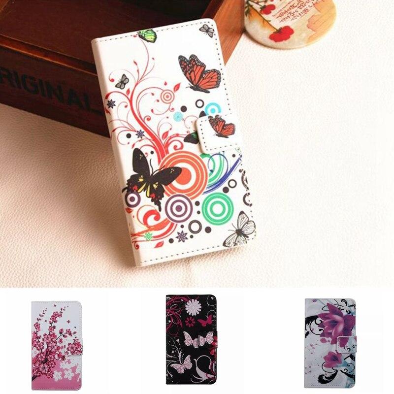 ≧Flor Mariposa cuero cartera teléfono caso para Nokia x dual sim x ...