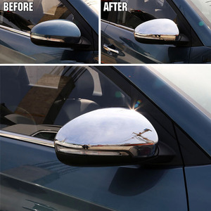 Image 3 - For Hyundai Tucson 2016 2017 2019 Chrome Side Door Mirror Cover Rear View Cap Molding Garnish Overlay Protector Car Styling 2pcs