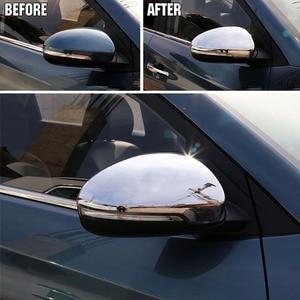 Image 3 - Pour Hyundai Tucson 2016 2017 2019 Chrome côté porte miroir couverture vue arrière bouchon moulage garniture superposition protecteur voiture style 2 pièces