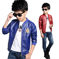 Fashion PU Leather Jackets Boys Coats Autumn Bomber Jackets For Boys Clothes 2-13Y Children's Jacket Kids Outerwear School SC466