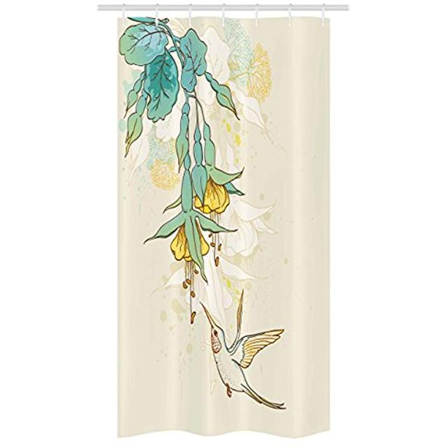 Exceptionnel Vixm Hummingbird Shower Curtain Hummingbird And Tropical Flowers Summertime  Stylized Exotic Plant Nature Fabric Bath Curtains