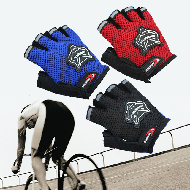 Men/Women autumn Cycling Gloves Bike Gloves Half Finger Weight lifting Gym bicycle gloves for children outdoor sports gloves