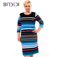 Hot Sale Women S Casual Dresses New 2015 Color Stripe Stitching Cotton Dresses Comfy Plus Size