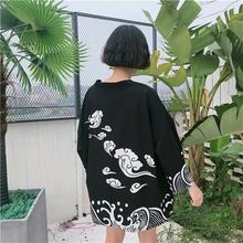 Kardigan Kimono kobiety 2019 lato yukata kobiece japońskie kimono tradycyjna japońska moda uliczna koszula bluzka AZ006 tanie tanio EASTQUEEN WOMEN Poliester spandex Odzież azji i pacyfiku wyspy Trzy czwarte Tradycyjny odzieży AA001